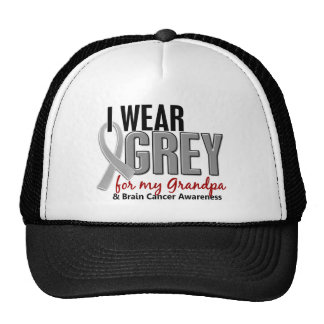 BRAIN CANCER I Wear Grey For My Grandpa 10 Trucker Hat