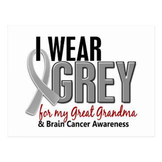 BRAIN CANCER I Wear Grey For My Great Grandma 10 Postcard