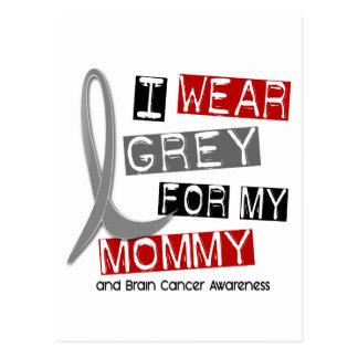 BRAIN CANCER I Wear Grey For My Mommy 37 Postcard