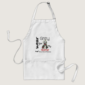 Brain Cancer I Wear Grey For My Mother 43 Adult Apron