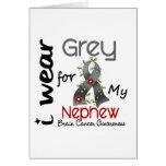 Brain Cancer I Wear Grey For My Nephew 43 Greeting Card