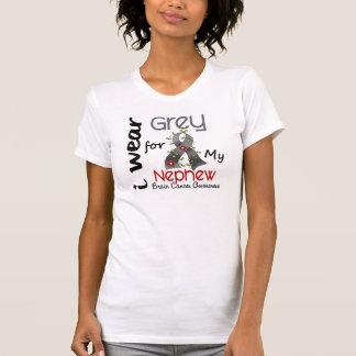 Brain Cancer I Wear Grey For My Nephew 43 T-Shirt