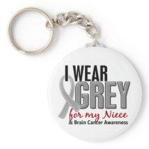 BRAIN CANCER I Wear Grey For My Niece 10 Keychain