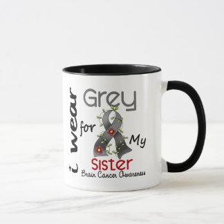 Brain Cancer I Wear Grey For My Sister 43 Mug