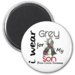 Brain Cancer I Wear Grey For My Son 43 2 Inch Round Magnet