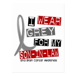 BRAIN CANCER I Wear Grey For My Son-In-Law 37 Postcard
