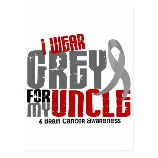 Brain Cancer I Wear Grey For My Uncle 6.2 Postcard