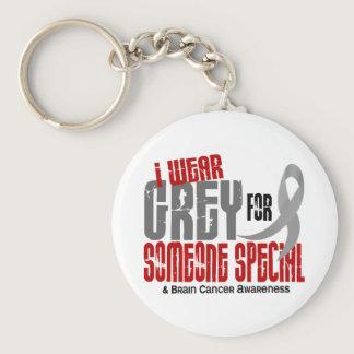 Brain Cancer I Wear Grey For Someone Special 6.2 Keychain