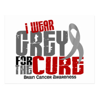 Brain Cancer I Wear Grey For The Cure 6.2 Postcard