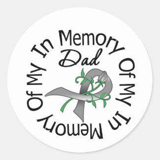 Brain Cancer In Memory of My Dad Round Sticker
