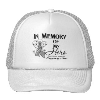 Brain Cancer In Memory of My Hero Mesh Hat