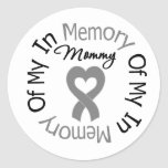 Brain Cancer In Memory of My Mommy Stickers