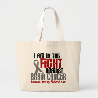 Brain Cancer IN THE FIGHT 1 Father-In-Law Large Tote Bag