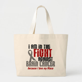 Brain Cancer IN THE FIGHT 1 Niece Large Tote Bag