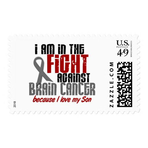 Brain Cancer IN THE FIGHT 1 Son Postage Stamp