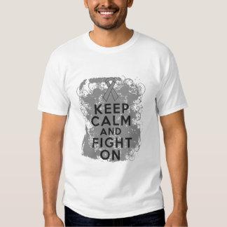 Brain Cancer Keep Calm and Fight On Tee Shirt