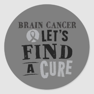 Brain Cancer lets Find a Cure Stickers