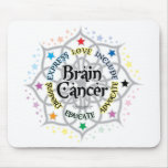 Brain Cancer Lotus Mouse Pads