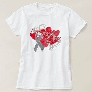 Brain Cancer Love Hope Cure T Shirt