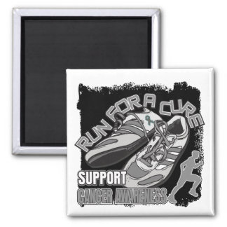 Brain Cancer - Men Run For A Cure 2 Inch Square Magnet