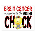 Brain Cancer Messed With The Wrong Chick Postcard