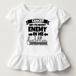 Brain Cancer Met Its Worst Enemy in Me Toddler T-shirt