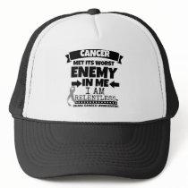 Brain Cancer Met Its Worst Enemy in Me Trucker Hat