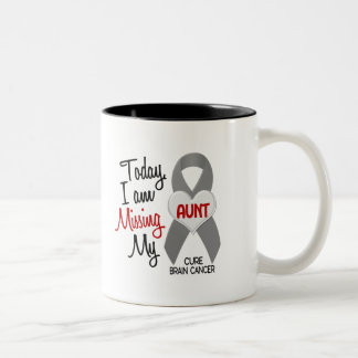 Brain Cancer Missing Miss My Aunt 1 Coffee Mug
