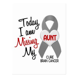 Brain Cancer Missing Miss My Aunt 1 Postcard