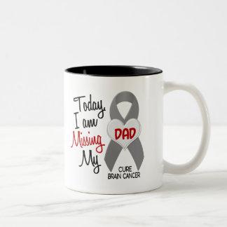 Brain Cancer Missing Miss My Dad 1 Two-Tone Coffee Mug