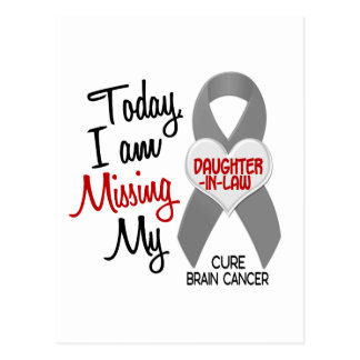 Brain Cancer Missing Miss My Daughter-In-Law 1 Postcard