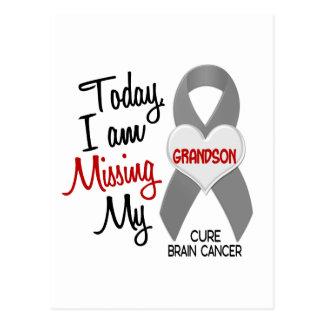 Brain Cancer Missing Miss My Grandson 1 Postcard