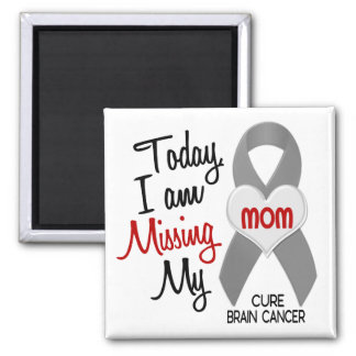 Brain Cancer Missing Miss My Mom 1 2 Inch Square Magnet