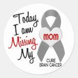 Brain Cancer Missing Miss My Mom 1 Round Sticker