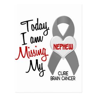 Brain Cancer Missing Miss My Nephew 1 Postcard