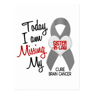 Brain Cancer Missing Miss My Sister-In-Law 1 Postcard