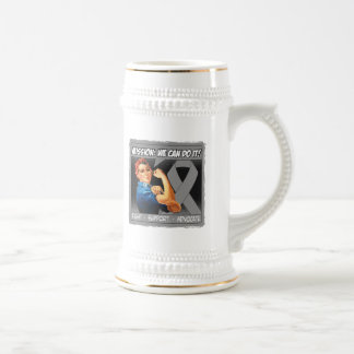Brain Cancer Mission We Can Do It 18 Oz Beer Stein