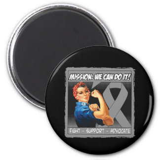 Brain Cancer Mission We Can Do It 2 Inch Round Magnet