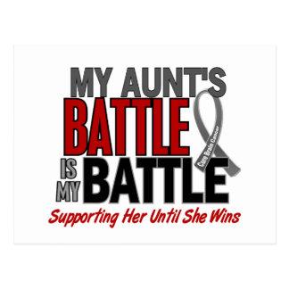 Brain Cancer MY BATTLE TOO 1 Aunt Postcard