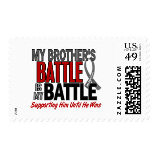 Brain Cancer MY BATTLE TOO 1 Brother Stamps