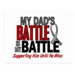 Brain Cancer MY BATTLE TOO 1 Dad Postcard