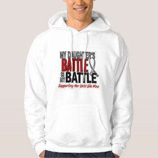 Brain Cancer MY BATTLE TOO 1 Daughter Hoodie