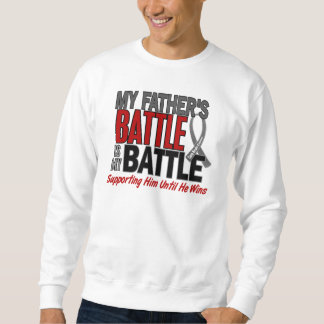 Brain Cancer MY BATTLE TOO 1 Father Sweatshirt
