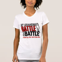 Brain Cancer MY BATTLE TOO 1 Grandma T-Shirt