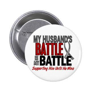 Brain Cancer MY BATTLE TOO 1 Husband Button