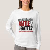 Brain Cancer MY BATTLE TOO 1 Husband T-Shirt