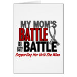 Brain Cancer MY BATTLE TOO 1 Mom Greeting Cards