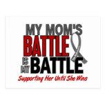 Brain Cancer MY BATTLE TOO 1 Mom Post Card