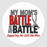 Brain Cancer MY BATTLE TOO 1 Mom Sticker