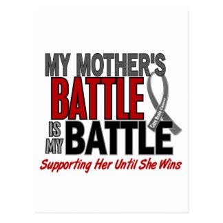 Brain Cancer MY BATTLE TOO 1 Mother Postcard